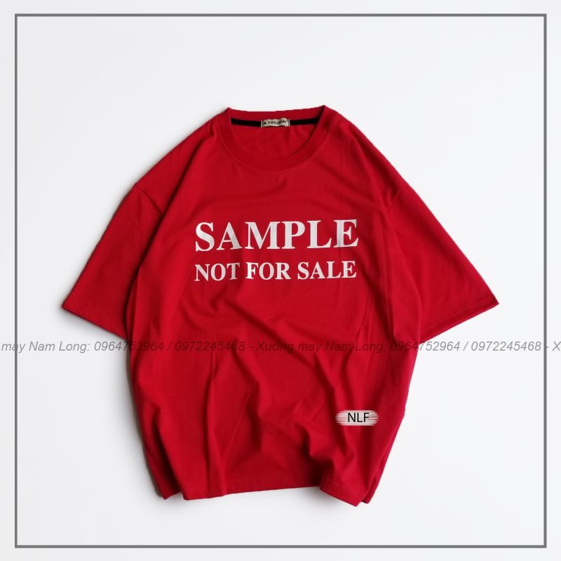 áo thun tay lỡ in chữ sample not for sale